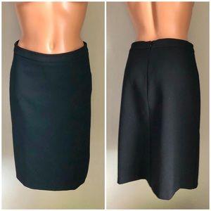 Bebe Knee Length Black Pencil Skirt Classic XS